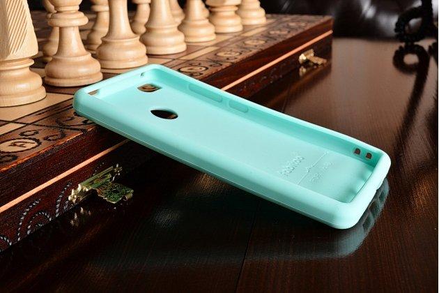 """Фирменная необычная уникальная полимерная мягкая задняя панель-чехол-накладка для Xiaomi Mi 4S  """"тематика Андроид в Мятном  Шоколаде"""""""