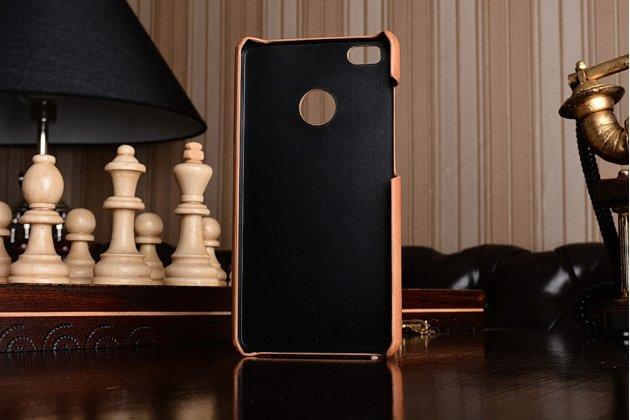 Фирменная роскошная элитная премиальная задняя панель-крышка для Xiaomi Mi 4S из качественной кожи буйвола коричневый