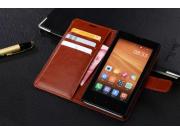 Фирменный чехол-книжка из качественной импортной кожи с подставкой застёжкой и визитницей для Xiaomi Mi 4S кор..
