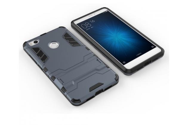 Противоударный усиленный ударопрочный фирменный чехол-бампер-пенал для Xiaomi Mi 4S черный