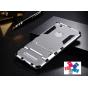 Противоударный усиленный ударопрочный фирменный чехол-бампер-пенал для Xiaomi Mi 4S серый..