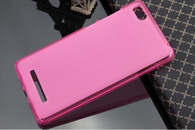 Фирменная ультра-тонкая полимерная из мягкого качественного силикона задняя панель-чехол-накладка для Xiaomi Mi 4c/4i розовая