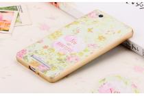 """Фирменная роскошная задняя панель-чехол-накладка из мягкого силикона с объемным 3D изображением на Xiaomi Mi 4i/Xiaomi Mi 4с с безумно красивым рисунком тематика """"Цветы"""""""