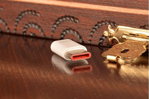 Фирменный оригинальный USB-переходник / Type-C для телефона Xiaomi 4C /  LG Google Nexus 5X/  Huawei Google Nexus 6P / Lenovo Zuk Z1 + гарантия
