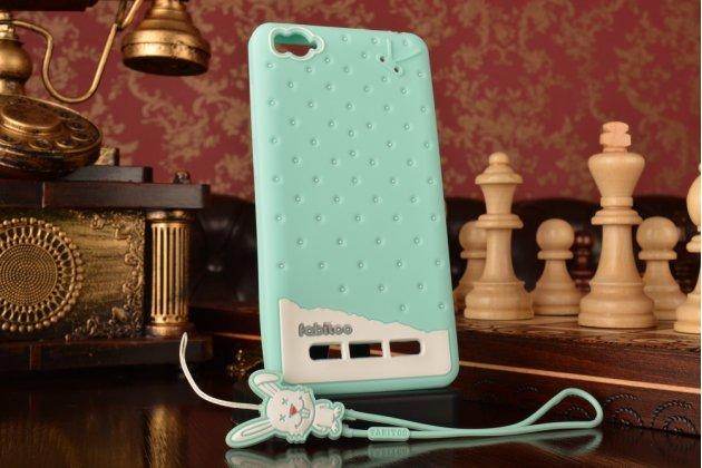 """Фирменная необычная уникальная полимерная мягкая задняя панель-чехол-накладка для Xiaomi Mi 4i/4c """"тематика Андроид в мятном шоколаде"""""""