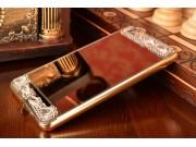 Фирменная металлическая задняя панель-крышка-накладка из облегченного авиационного алюминия украшенная стразам..