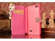 Фирменный роскошный чехол-книжка безумно красивый декорированный бусинками и кристаликами на Xiaomi Mi 4i/4с р..