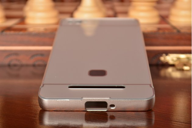 Фирменная металлическая задняя панель-крышка-накладка из тончайшего облегченного авиационного алюминия для Xiaomi Mi 4c серебристая