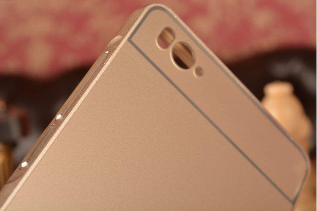 Фирменная металлическая задняя панель-крышка-накладка из тончайшего облегченного авиационного алюминия для Xiaomi Mi 4c золотая