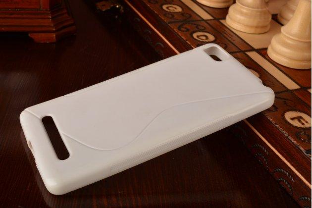 Фирменная ультра-тонкая полимерная из мягкого качественного силикона задняя панель-чехол-накладка для Xiaomi Mi 4c белая