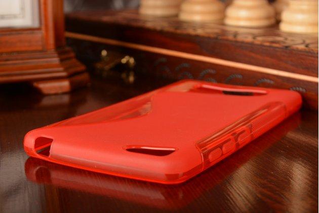 Фирменная ультра-тонкая полимерная из мягкого качественного силикона задняя панель-чехол-накладка для Xiaomi Mi 4c красная