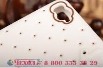 """Фирменная необычная уникальная полимерная мягкая задняя панель-чехол-накладка для Xiaomi Mi 4c """"тематика Андроид в Белом Шоколаде"""""""