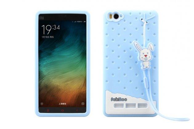 """Фирменная необычная уникальная полимерная мягкая задняя панель-чехол-накладка для Xiaomi Mi 4c """"тематика Андроид в Черничном  Шоколаде"""""""