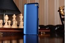 """Фирменная задняя панель-крышка-накладка из тончайшего и прочного пластика для Xiaomi Mi5s 5.15"""" синяя"""