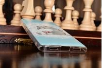 """Фирменная задняя панель-чехол-накладка из прозрачного 3D силикона с объёмным рисунком для Xiaomi Mi5s 5.15"""" """"тематика Толстый Кот"""""""