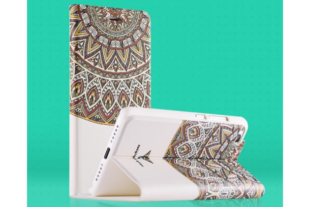 """Фирменный уникальный необычный чехол-книжка для Xiaomi Mi5s 5.15"""" тематика  Эклектические узоры"""