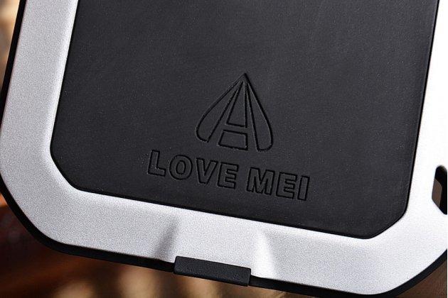 """Неубиваемый водостойкий противоударный водонепроницаемый грязестойкий влагозащитный ударопрочный фирменный чехол-бампер для Xiaomi Mi5 5.0"""" цельно-металлический со стеклом Gorilla Glass серебряный"""