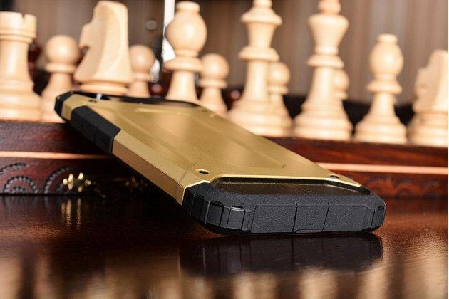 """Противоударный усиленный ударопрочный фирменный чехол-бампер-пенал для Xiaomi Mi5s 5.15"""" золотой"""