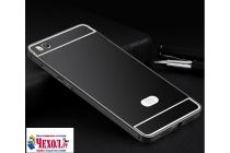 """Фирменная металлическая задняя панель-крышка-накладка из тончайшего облегченного авиационного алюминия для Xiaomi Mi5s 5.15"""" черная"""