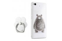 """Фирменная задняя панель-чехол-накладка из прозрачного 3D силикона с объёмным рисунком для Xiaomi Mi5s 5.15"""" """"тематика Весёлый Мишка"""""""