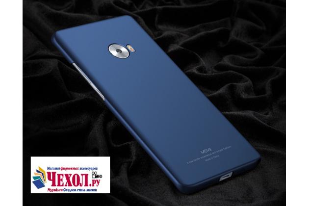 """Фирменная задняя панель-крышка-накладка из тончайшего и прочного пластика для Xiaomi Mi Note 2"""" синяя"""