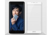 """Фирменное 3D защитное изогнутое стекло с закругленными изогнутыми краями которое полностью закрывает экран / дисплей по краям с олеофобным покрытием для  Xiaomi Mi Note 2"""""""