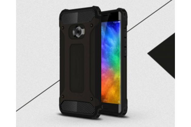 """Противоударный усиленный ударопрочный фирменный чехол-бампер-пенал для Xiaomi Mi Note 2"""" черный"""