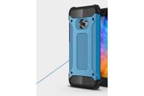 """Противоударный усиленный ударопрочный фирменный чехол-бампер-пенал для Xiaomi Mi Note 2"""" синий"""
