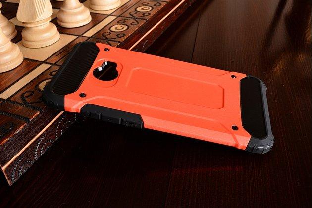 """Противоударный усиленный ударопрочный фирменный чехол-бампер-пенал для Xiaomi Mi Note 2"""" красный"""