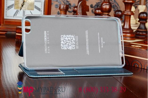 """Фирменный оригинальный чехол-книжка для Xiaomi Mi Note/ Mi Note Pro 5.7"""" зеленый кожаный с окошком для входящих вызовов"""