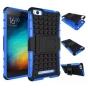 Противоударный усиленный ударопрочный фирменный чехол-бампер-пенал для Xiaomi Mi Note синий..