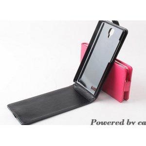 """Фирменный оригинальный вертикальный откидной чехол-флип для Xiaomi Mi Note/ Mi Note Pro черный кожаный """"Prestige"""" Италия"""