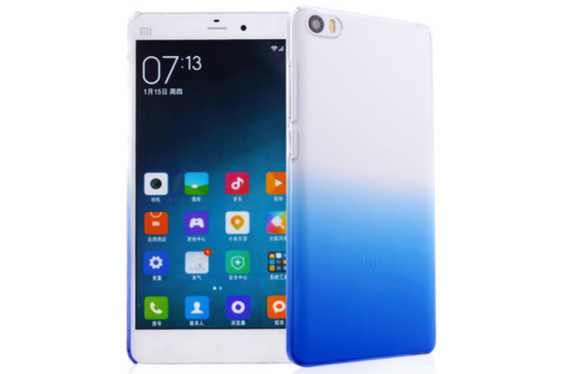 Фирменная из тонкого и лёгкого пластика задняя панель-чехол-накладка для Xiaomi Mi Note/Mi Note Pro прозрачная с эффектом дождя