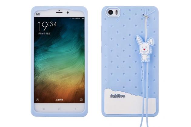 """Фирменная необычная уникальная полимерная мягкая задняя панель-чехол-накладка для Xiaomi Mi Note/Mi Note Pro  """"тематика Андроид в черничном шоколаде"""""""