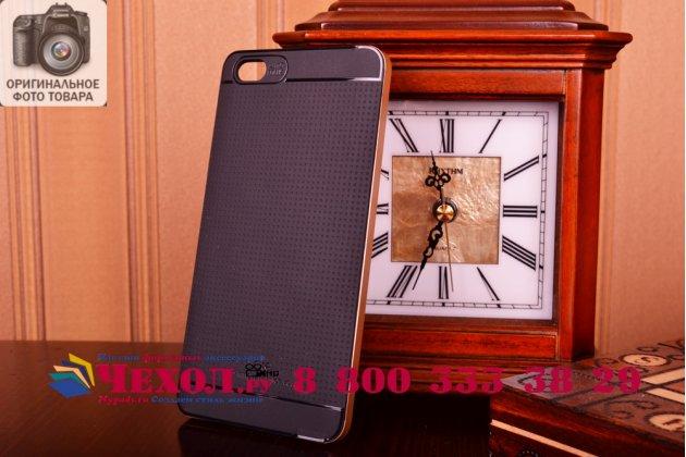 Фирменная ультра-тонкая полимерная сделанная под кожу задняя панель-чехол-накладка для Xiaomi Mi Note/Mi Note Pro черная