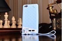 """Фирменная необычная уникальная полимерная мягкая задняя панель-чехол-накладка для Xiaomi Mi 4i""""тематика Андроид в черничном  Шоколаде"""""""