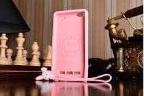 """Фирменная необычная уникальная полимерная мягкая задняя панель-чехол-накладка для Xiaomi Mi 4i """"тематика Андроид в клубничном шоколаде"""""""