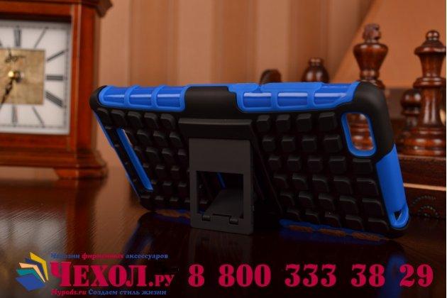Противоударный усиленный ударопрочный фирменный чехол-бампер-пенал для Xiaomi Mi 4i/4с синий