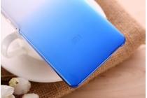 Фирменная из тонкого и лёгкого пластика задняя панель-чехол-накладка для Xiaomi Mi 4i прозрачная с эффектом дождя