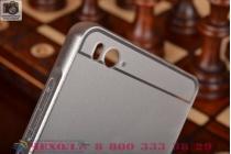 Фирменная металлическая задняя панель-крышка-накладка из тончайшего облегченного авиационного алюминия для Xiaomi Mi 4i серебристая