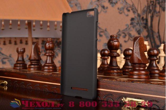 Фирменная задняя панель-крышка-накладка из тончайшего и прочного пластика для Xiaomi Mi 4i/Xiaomi Mi 4c черная
