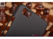 Фирменная задняя панель-крышка-накладка из тончайшего и прочного пластика для Xiaomi Mi 4i/Xiaomi Mi 4c черная..