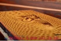 Фирменный роскошный эксклюзивный чехол с объёмным 3D изображением кожи крокодила коричневый для Xiaomi Mi 4i . Только в нашем магазине. Количество ограничено