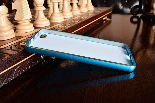 Фирменная металлическая задняя панель-крышка-накладка из тончайшего облегченного авиационного алюминия для Xiaomi Mi5 голубая