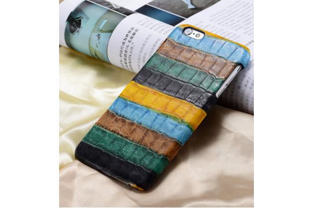 """Фирменная неповторимая экзотическая панель-крышка обтянутая кожей крокодила с фактурным тиснением для Xiaomi Mi5 тематика """"Тропический Коктейль"""". Только в нашем магазине. Количество ограничено."""