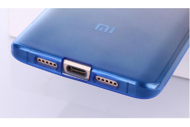 Фирменная ультра-тонкая полимерная задняя панель-чехол-накладка из силикона для Xiaomi Mi5 прозрачная с эффектом дождя