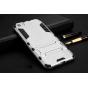 Противоударный усиленный ударопрочный фирменный чехол-бампер-пенал для Xiaomi Mi5 серебристый..