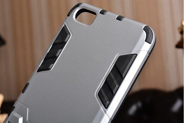 Противоударный усиленный ударопрочный фирменный чехол-бампер-пенал для Xiaomi Mi5 серебристый