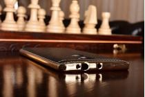 Фирменная премиальная элитная крышка-накладка на for Xiaomi Mi5s Plus черная из качественного силикона с дизайном под кожу