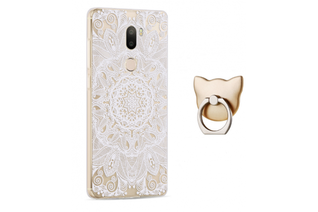 """Фирменная задняя панель-чехол-накладка из прозрачного 3D силикона с объёмным рисунком для Xiaomi Mi5s Plus""""  """"тематика Эклектические Узоры"""" которая огибает логотип чтобы была видна марка телефона"""